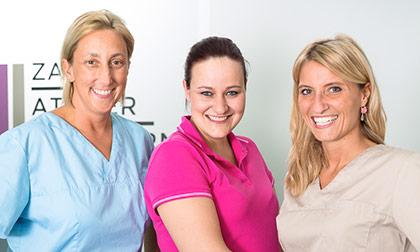Foto DDr. Angelika Evgenidis, DDr. Patricia Haberl und PAss Sandra Steinbrugger